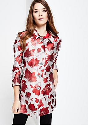 Extravaganter Mantel mit aufwendig gestaltetem Floralmuster