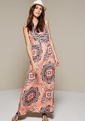 Feines Maxikleid mit farbenfrohem Ornamentikmuster