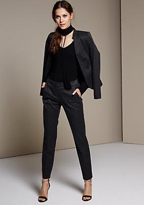 Feminine Businesspants mit aufregendem Jacquardmuster