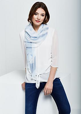 Hauchzarter Schal mit Streifenmuster