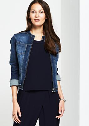 Jeansjacke in authentischer Vintage-Waschung