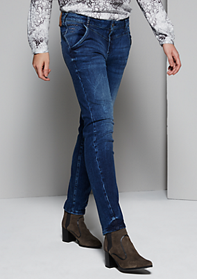 Klassische Boyfriend-Jeans in Used-Optik