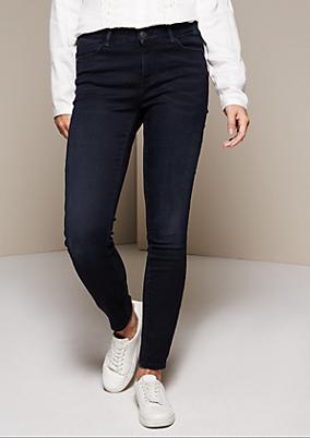 Klassische Jeans im Used-Look