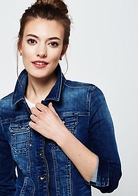 Lässige Jeansjacke in Used-Waschung