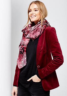 Leichter Schal mit liebevoll gestaltetem Alloverprint