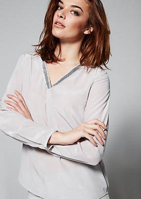 Luxuriöse Bluse aus edler Seide