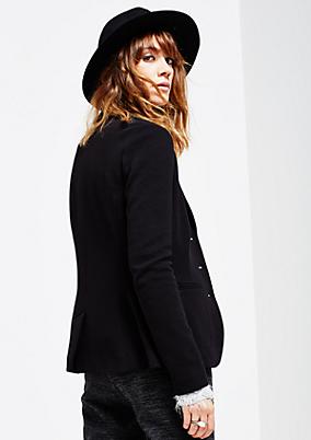 Schlichter Filzhut mit breitem Hutband