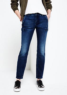 Schöne 7/8-Jeans in aufregender Used-Waschung
