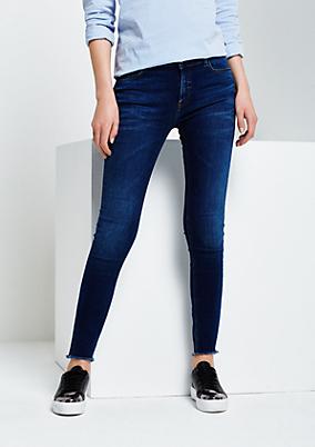 Smarte Skinny-Jeans im Used-Look
