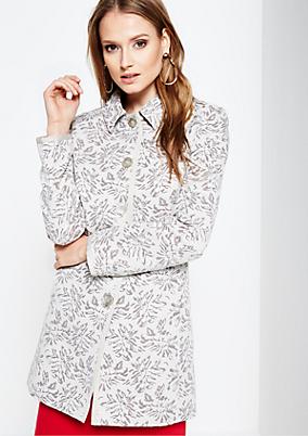 Smarter Mantel mit schön gestaltetem Jacquardmuster