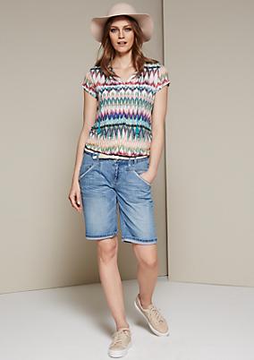Sommerliche Jeans-Bermudas in Used-Optik