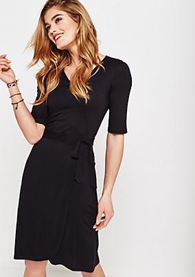 Sommerliches Jerseykleid mit 1/2-Ärmeln