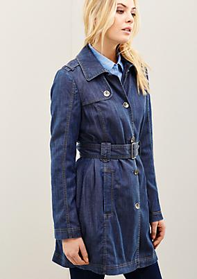 Sportlicher Mantel im trendigen Jeanslook