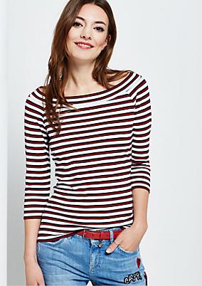 Sportliches 3/4-Arm Jerseyshirt mit klassischem Streifenmuster