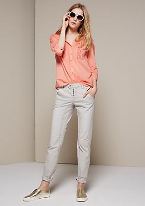 Süße 3/4-Arm Bluse mit raffinierten Spitzeneinsätzen