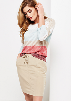 Weiches 3/4-Arm Strickshirt in Colourblock-Optik