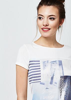 Weiches Jersey-Kurzarmshirt mit Fotoprint