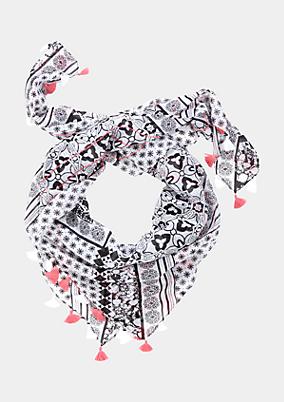 Zarter Tuchschal mit Ornamentikprint