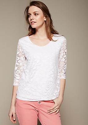 Zartes 3/4-Arm Shirt mit aufregendem Musterdessin