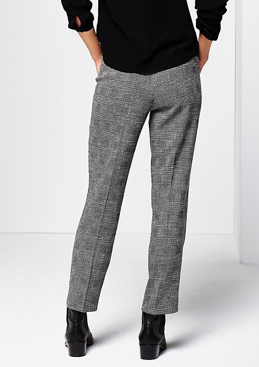 Edle Businesspants mit dekorativem Glencheck-Muster