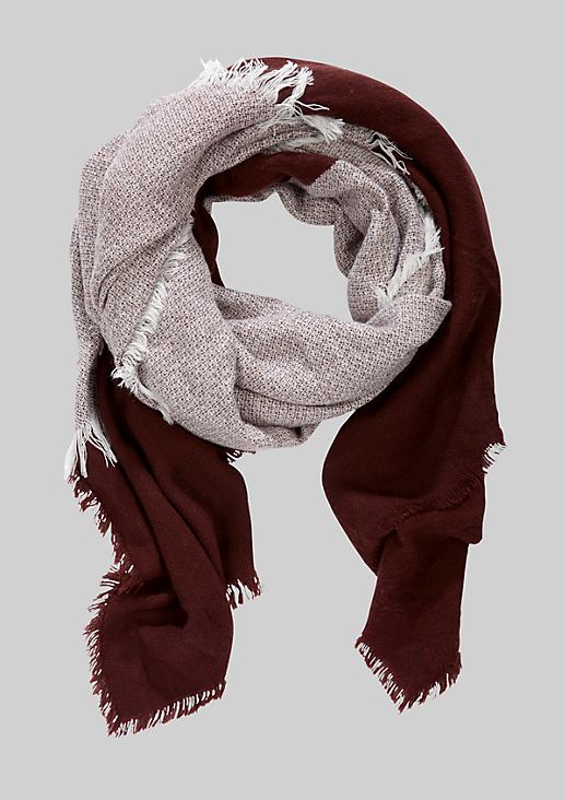 Edler Winterschal mit klassischem Colourblocking