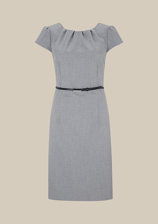 Edles Abendkleid mit raffiniertem Ton-in-Ton Muster