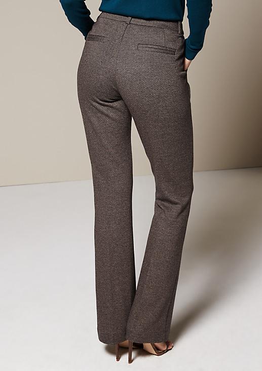 Elegante Businesspants mit schönem Herringbone-Muster