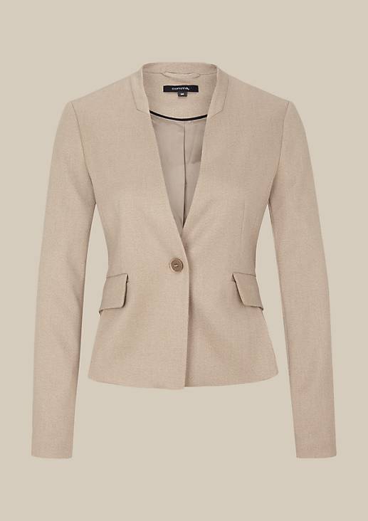 Eleganter Business-Blazer mit Dobbymuster