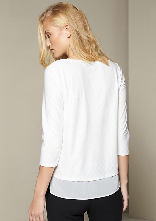 Elegantes 3/4-Arm Jerseyshirt im Lagenlook