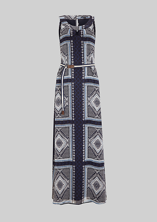 Elegantes Chiffonkleid mit tollem Musterspiel