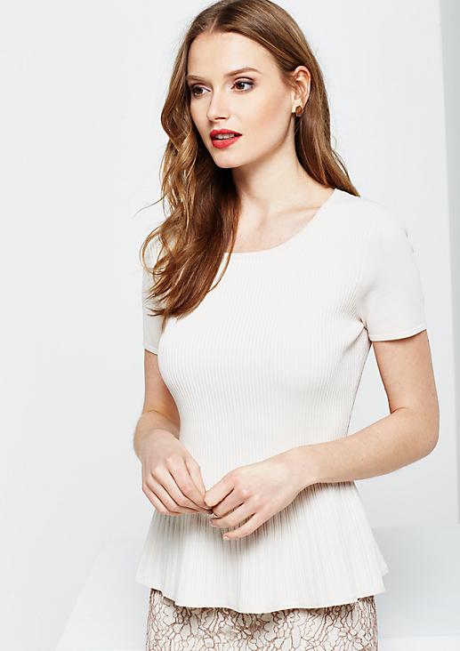Elegantes Strickshirt mit kurzen Ärmeln