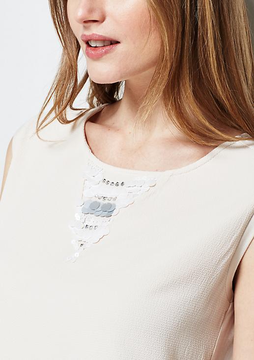 Elegantes Top mit Paillettenverzierungen