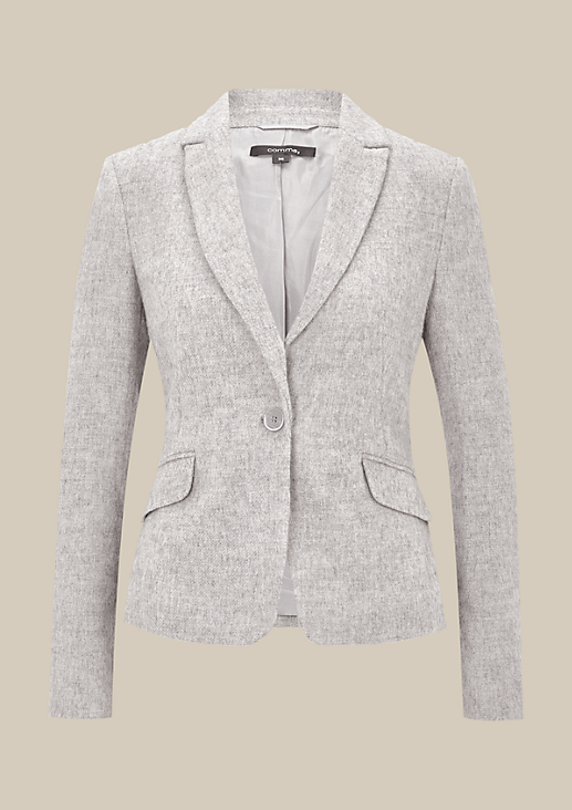 Extravaganter Blazer in Wolloptik