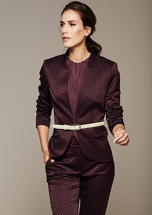 Extravaganter Blazer mit glamourösem Jacquardmuster