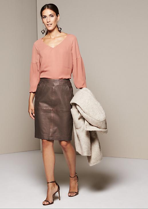 Extravaganter Lederrock aus weichem Schafleder