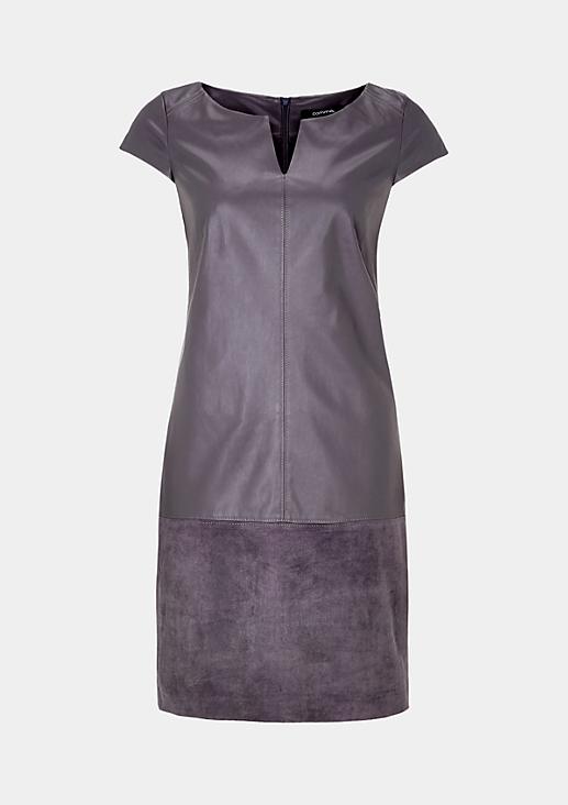 Extravagantes Businesskleid aus weichem Fake-Leder