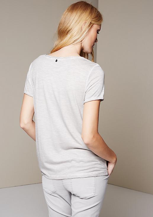 Extravagantes Kurzarmshirt mit opulentem 3-D Muster