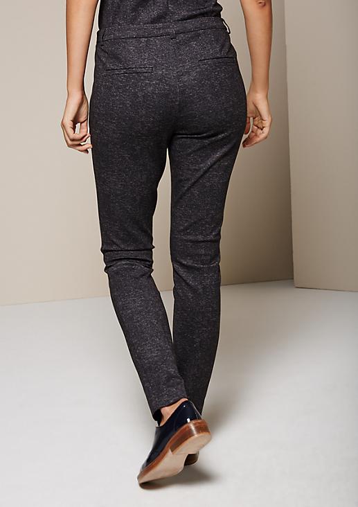 Feminine Businesspants im Melange-Look