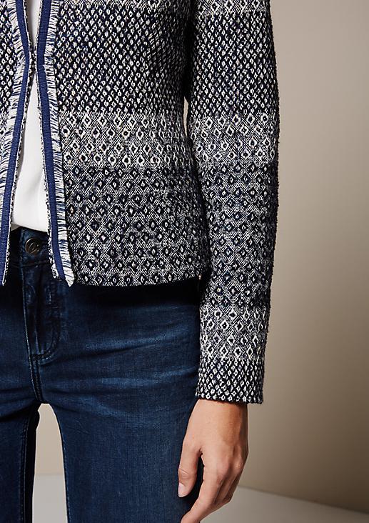 Glamouröser Blazer mit dekorativem Muster