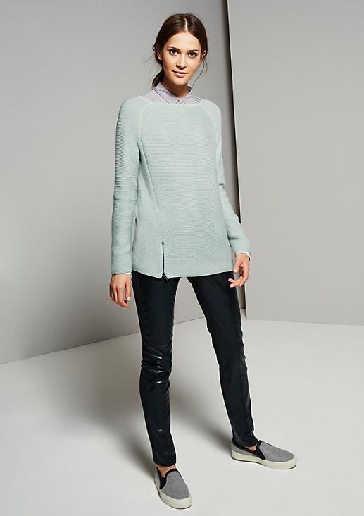 Grobstrick-Pullover im verspielten Mustermix