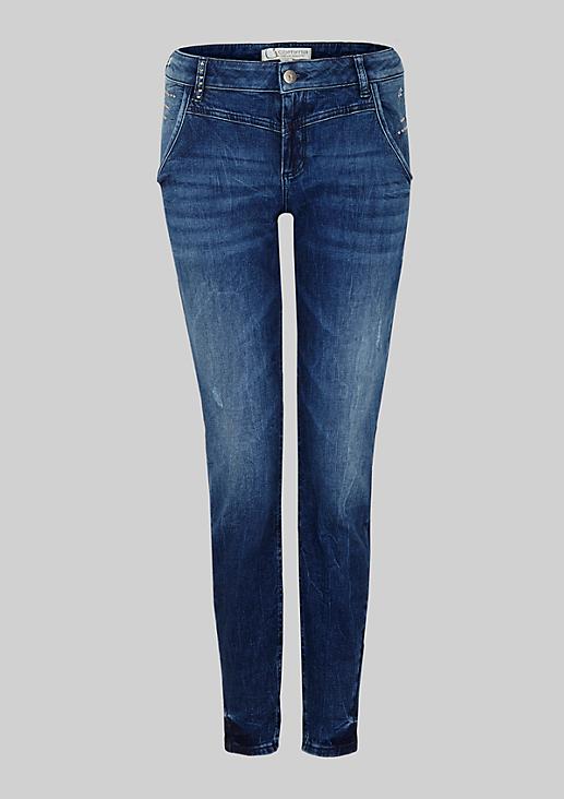Klassische Boyfriend-Jeans in Used-Optik