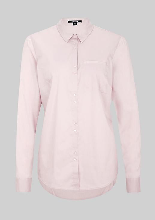 Klassische Hemdbluse mit Brusttasche