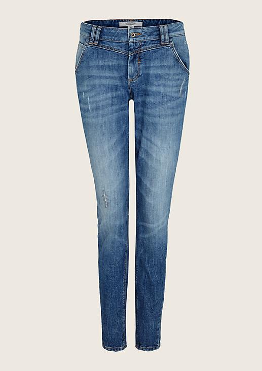 Lässige Jeans im Used-Look