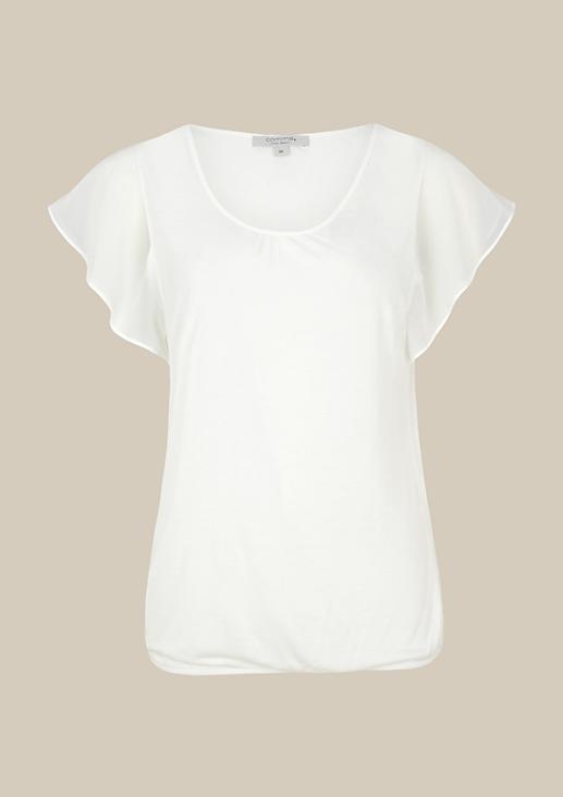 Lässiges Jerseyshirt mit kurzen Ärmeln