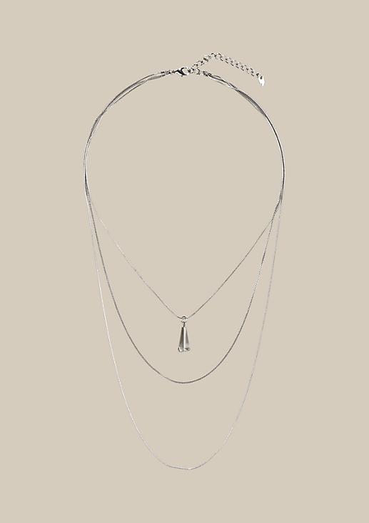 Lange Halskette mit Kristallanhänger