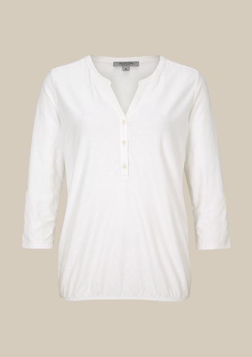 Legeres 3/4-Arm Jerseyshirt mit schönem Ton-in-Ton Muster