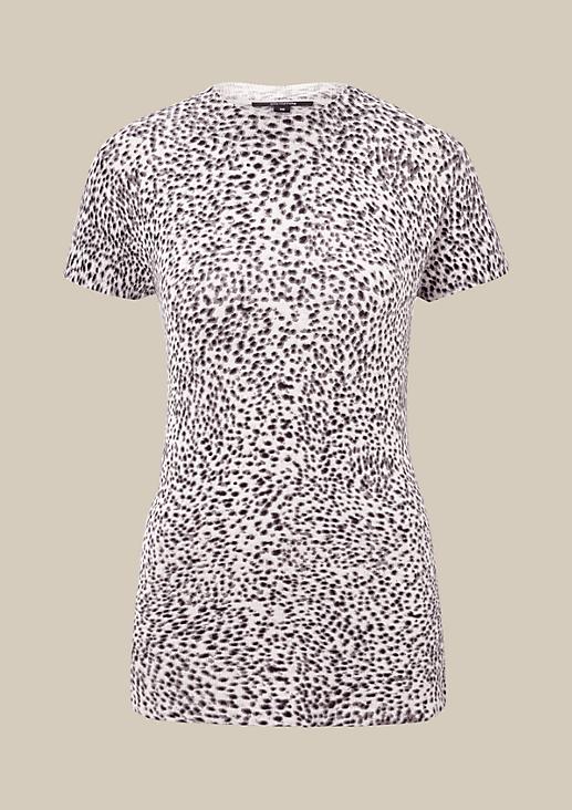 Legeres Kurzarm-Strickshirt mit aufregendem Allovermuster