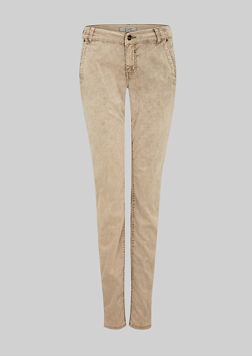 Leichte Jeans aus feinem Babycord
