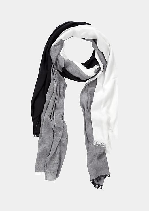 Leichter Schal mit raffiniertem Colourblock-Muster