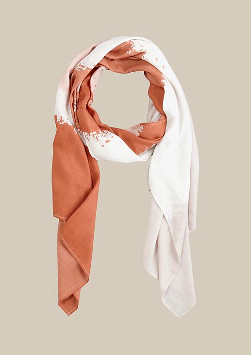 Leichter Tuchschal mit abstraktem Streifenmuster